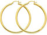14k Polished 3mm Round Hoop Earrings style: T943