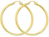 14k Polished 3mm Round Hoop Earrings style: T944