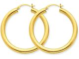 14k Polished 4mm X 40mm Tube Hoop Earrings style: T947