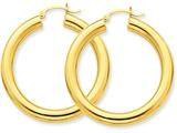 14k Polished 5mm Tube Hoop Earrings style: T956