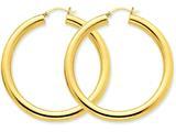 14k Polished 5mm Tube Hoop Earrings style: T957