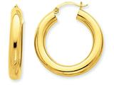 14k Polished 5mm Tube Hoop Earrings style: T958