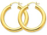 14k Polished 5mm Tube Hoop Earrings style: T959
