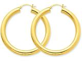 14k Polished 5mm Tube Hoop Earrings style: T960
