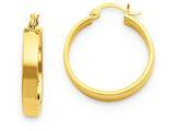 14k Polished Hoop Earring style: TA240