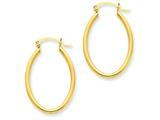 14k Oval Polished Hoop Earring style: TA257