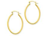 14k Oval Polished Hoop Earring style: TA258