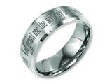Chisel Titanium Beveled Edge 8mm Laser Design Brushed and Polished Weeding Band style: TB115G