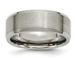 Chisel Titanium Beveled Edge 8mm Brushed And Polished Weeding Band style: TB115