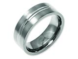 Chisel Titanium Grooved 8mm Brushed And Polished Weeding Band style: TB119