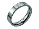 Chisel Titanium Flat 5mm Polished Weeding Band style: TB155