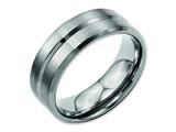 Chisel Titanium Grooved Beveled Edge 8mm Brushed And Polished Weeding Band style: TB171