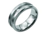 Chisel Titanium Grooved 8mm Brushed And Polished Weeding Band style: TB180