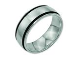 Chisel Titanium Black Rubber 8mm Brushed Weeding Band style: TB184