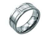 Chisel Titanium Grooved 8mm Brushed And Polished Weeding Band style: TB203