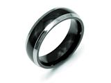 Chisel Titanium Black Ti Two-tone 7mm Polished Weeding Band style: TB229