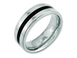 Chisel Titanium Enameled Ridged Edge 8mm Polished Weeding Band style: TB231