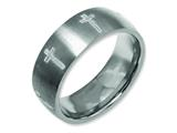Chisel Titanium 8mm Laser Design Brushed Weeding Band style: TB26D