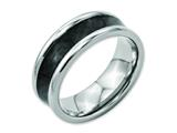 Chisel Titanium Black Carbon Fiber 8mm Polished Weeding Band style: TB271