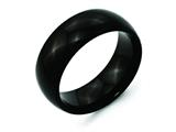 Chisel Titanium Black Ti 8mm Polished Weeding Band style: TB292