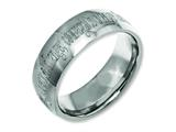 Chisel Titanium 8mm Laser Design Polished Weeding Band style: TB2G