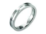 Chisel Titanium 4mm Brushed and Polished Weeding Band style: TB306