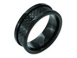 Chisel Titanium 9mm Black Ip-plated W/carbon Fiber Inlay Polished Weeding Band style: TB316