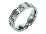 Chisel Titanium 6mm Brushed And Polished Weeding Band style: TB319