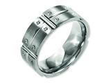 Chisel Titanium 8mm Brushed And Polished Weeding Band style: TB320