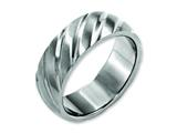 Chisel Titanium Swirl Design 8mm Satin Weeding Band style: TB322