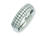 Chisel Titanium Multi-row CZ Ring style: TB374