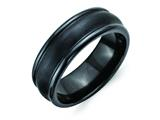 Chisel Titanium Black Ti Brushed And Polished Domed 8mm Weeding Band style: TB395