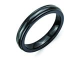 Chisel Titanium Black Ti Domed 4mm Polished Rounded Edge Weeding Band style: TB396