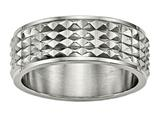 Chisel Titanium Polished Studded Ring style: TB451