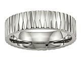 Chisel Titanium Polished Textured Ring style: TB460