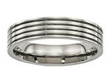 Chisel Titanium Polished Grooved Comfort Back Ring style: TB473
