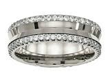 Chisel Titanium Polished With CZ Ring style: TB476