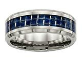 Chisel Titanium Polished W/ Blue Carbon Fiber Ring style: TB479