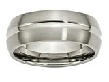 Chisel Titanium Grooved 8mm Brushed And Polished Weeding Band style: TB51
