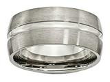 Chisel Titanium Grooved 10mm Brushed And Polished Weeding Band style: TB52
