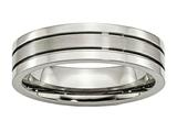 Chisel Titanium Grooved 6mm Brushed And Polished Weeding Band style: TB59