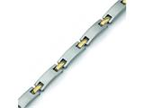Chisel Titanium 24k Gold Plated Bracelet - 8.5 inches