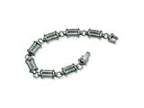 Chisel Titanium Brushed and Polished Bracelet - 9 inches style: TBB117