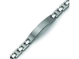 Chisel Titanium Brushed and Polished ID Bracelet - 8.5 inches