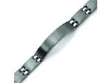 Chisel Titanium Brushed and Polished ID Bracelet - 9 inches