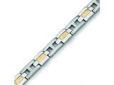 Chisel Titanium 24k Gold Plating Bracelet - 9 inches style: TBB126