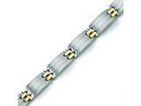 Chisel Titanium 24k Gold Plating Bracelet - 8.5 inches style: TBB127