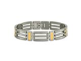 Chisel Titanium 24k Gold Plating Bracelet - 8.5 inches