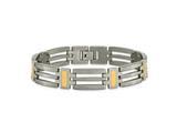 Chisel Titanium 24k Gold Plating Bracelet - 8.5 inches style: TBB128