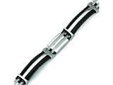 Chisel Titanium Black Plating Bracelet - 8.5 inches